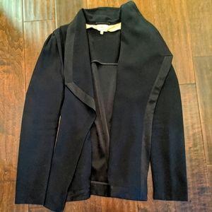 Wilfred black open front blazer
